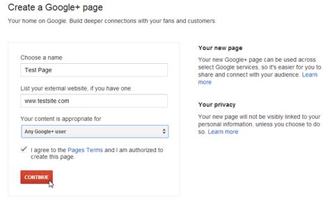 design google plus page learn how to create a google plus page