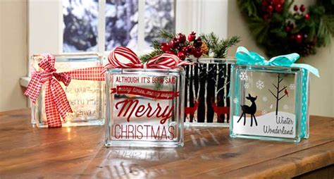 christmas ideas for glass blocks glass blocks craft warehouse