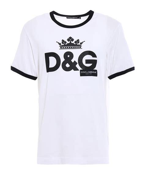T Shirt Dg dg crown print cotton t shirt by dolce gabbana t