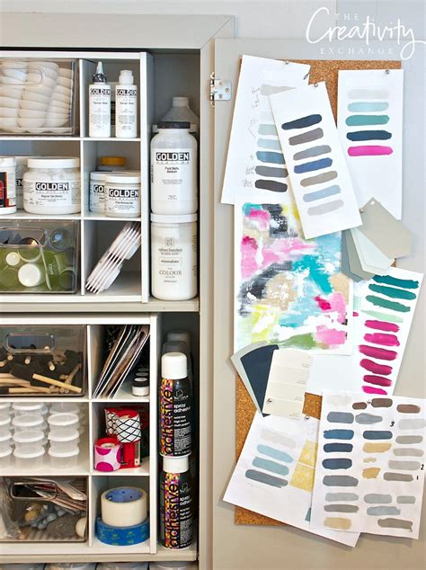organizing craft supplies paint techniques archives