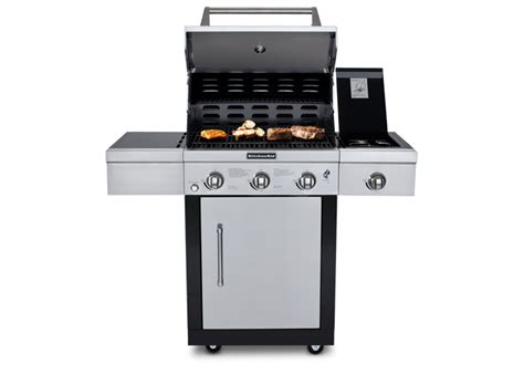 Kitchenaid Microwave Grill Kitchenaid 174 3 Burner Gas Grill The Kitchenthusiast