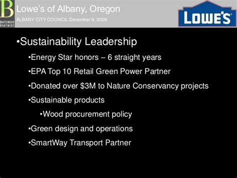 national top 100 green power partnership us epa lowe s albany or city council 2012 09 2009 presentation