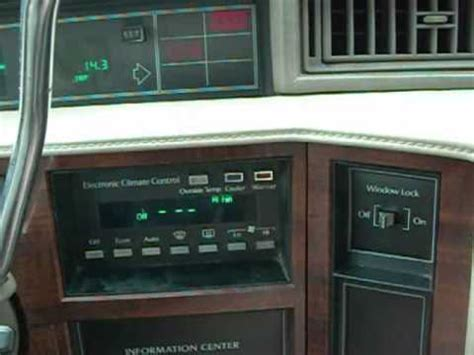 automobile air conditioning repair 1992 cadillac deville instrument cluster 1992 cadillac deville trouble codes reading youtube