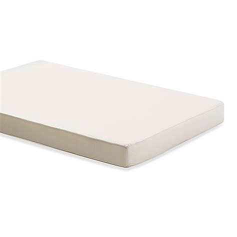 Size Of Crib Mattress Buy Foundations 174 Duraloft 3 Inch Size Crib Mattress From Bed Bath Beyond