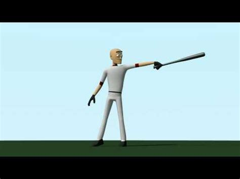 animate swing baseball batting animation youtube