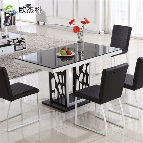 Dining Table Small Apartment | oujie ke tempered glass dining table dining table modern