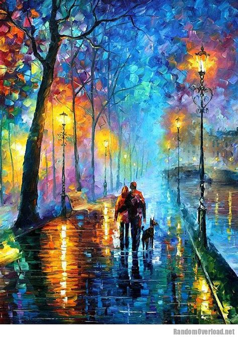 amazing beautiful colorful one of the most amazing oil paintings by artist leonid