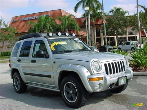 silver jeep liberty 2004 bright silver metallic jeep liberty renegade 1261593