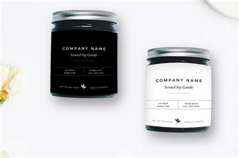 Minimalist Candle Label Flyer Templates Creative Market Candle Label Templates