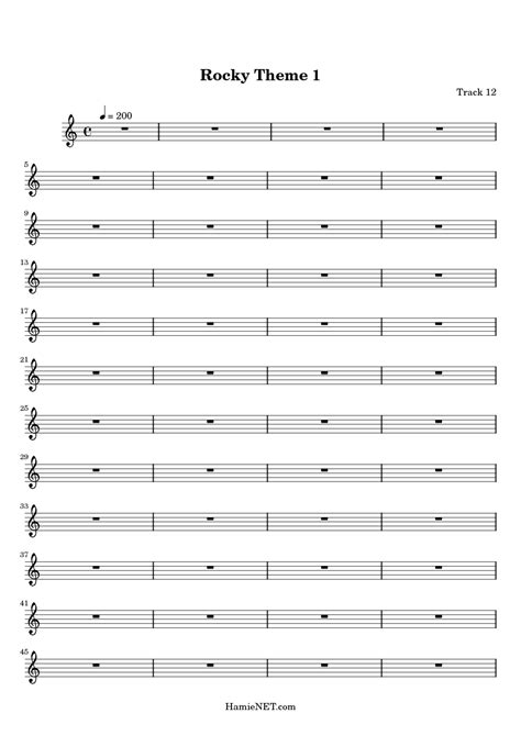 theme music from rocky free trumpet sheet music for rocky theme song tubescore