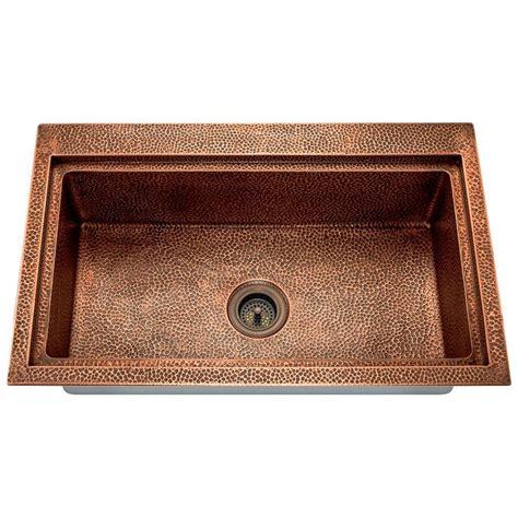 copper drop in kitchen sink copper kitchen sink