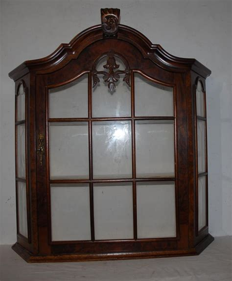 Hang Cabinet Doors Vintage Quality Wooden Glass Display Vitrine Wall