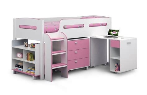 Julian Bowen Kimbo Pink Cabin Bed Frame By Julian Bowen White Cabin Bed With Desk