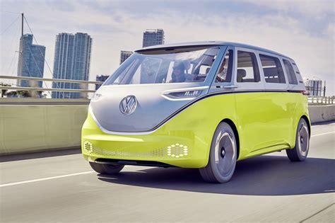 electric volkswagen van official all electric vw buzz cargo van confirmed for