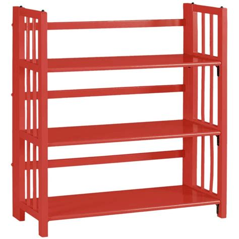 Home Decorators Collection Multimedia Storage 14 In W Folding Stacking Bookshelves