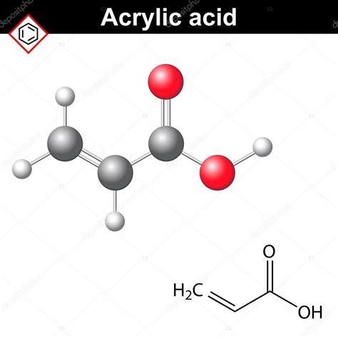 Acrylic Acid 아크릴산 분자 스톡 벡터 169 logos2012 119594176