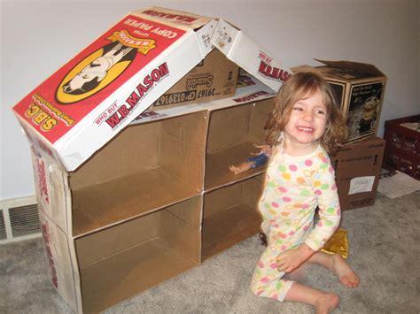 the beans cardboard house