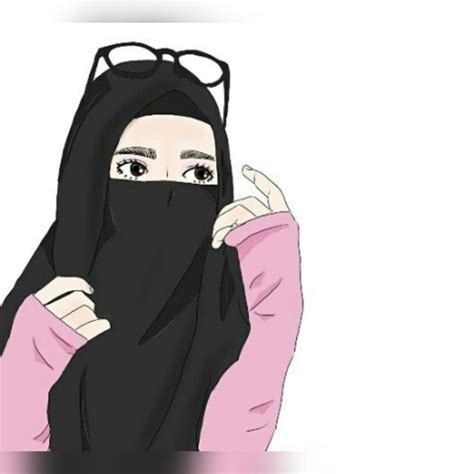 kartun muslimah images  pinterest islam