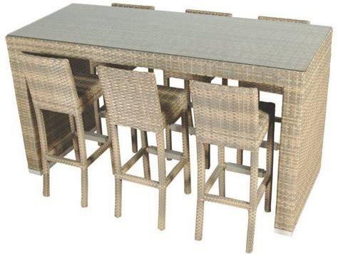 garten bartisch mit barst 252 hle set gartentisch mit sechs