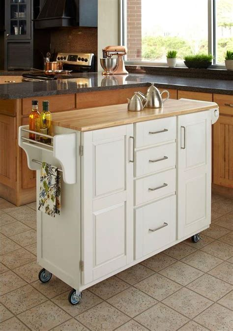 kitchen mobile island home styles create a cart white kitchen cart with natural