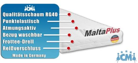 matratze 90x180 matratze malta plus 90x180 cm hochwertige matratze f 252 r