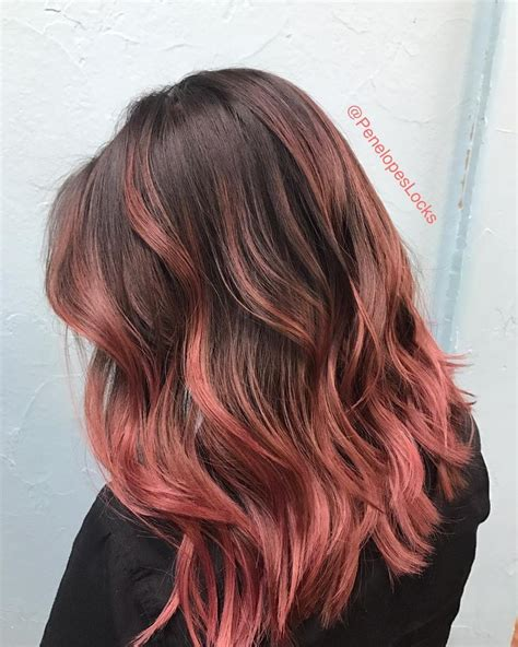 rose gold hair dye 9 chocolate rose gold hair colors that ll make you hair