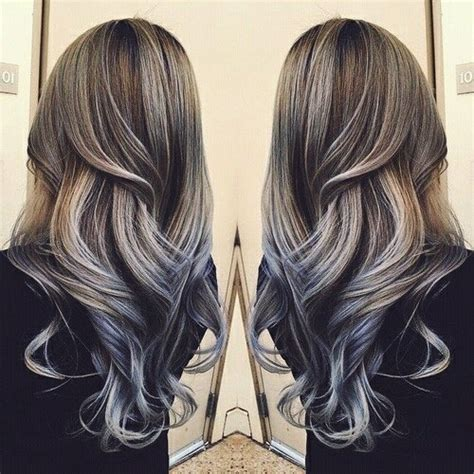 partial silver highlights on dark brown hair procedure color colored dyed hair gorgeous hair image 3893466