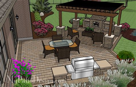 Pergola Covered Fireplace Patio Tinkerturf Patio Plans Free Design