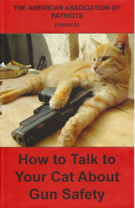 how to your to speak how to talk to your cat about gun safety zine
