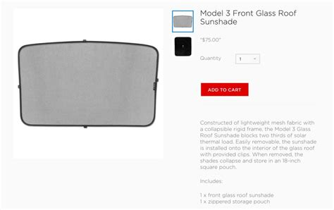 tesla model 3 accessories appear in company store