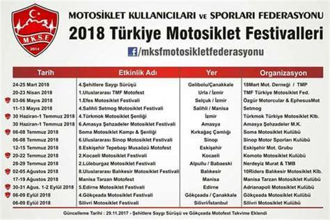 motosiklet festivalleri hangi tarihte nerede