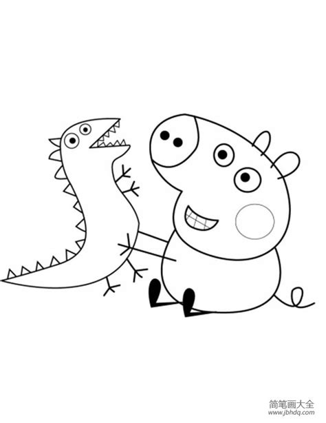 george pig coloring page 卡通人物图案简笔画 动漫人物简笔画皮卡丘 卡通人物的简笔画 简单又好画的卡通人物 简单的卡通人物怎么画 卡通猫和老鼠的简笔画