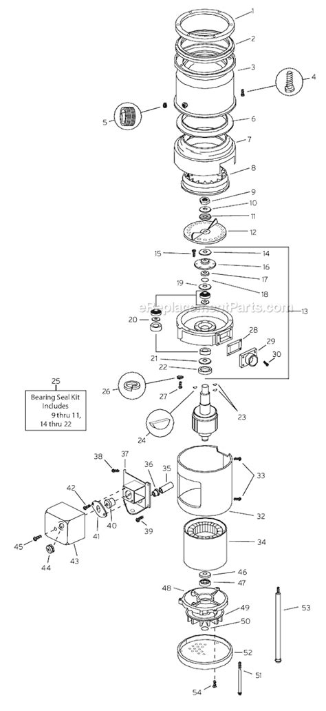 insinkerator parts diagram insinkerator ss500 parts list and diagram