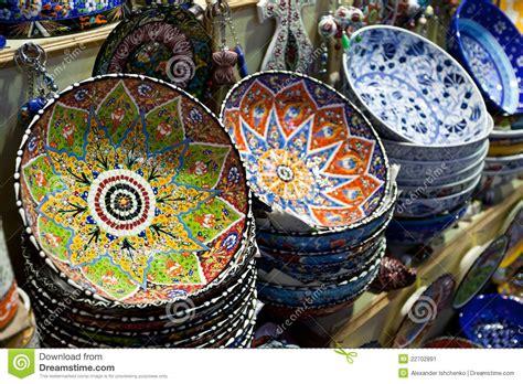 Handmade Turkish Plates For Sale. Stock Image Image: 22702891