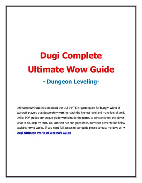 download free wow leveling guides dugi guides dugi complete ultimate wow guide dungeon leveling