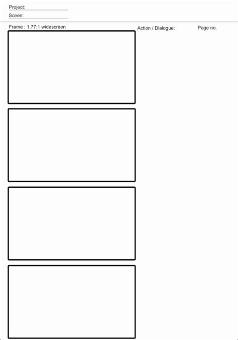 vertical storyboard template 10 storyboard template for sletemplatess