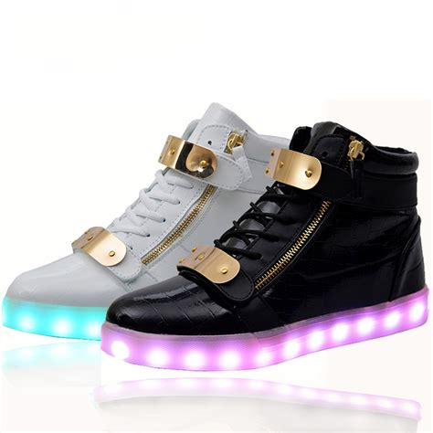 led light up shoes for adults 2016 new men women led shoes for adults high top glowing