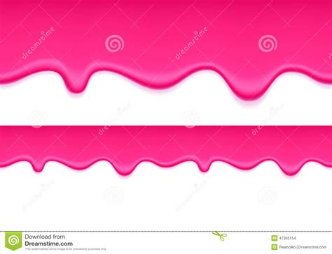 Liquid Jelly Drop Strawberry Liquid Pink Jelly Background Liquid Flow Stock Vector