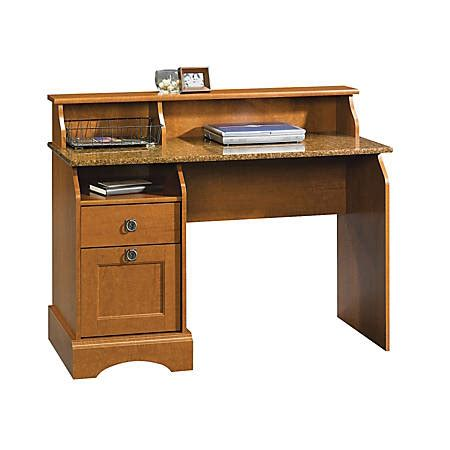 Sauder Graham Hill Desk With Hutchautumn Maple By Office