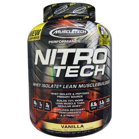 Muscletech Nitrotech Gold 5 5lbs muscletech nitro tech whey isolate lean builder vanilla 3 97 lbs 1 8 kg iherb
