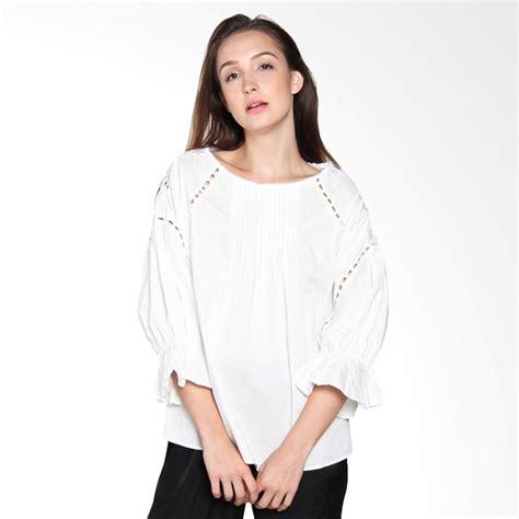 Fashion Wanita Pakaian Atasan Wanita Thrasher White jual papercut fashion b07 rowena 936 atasan wanita white