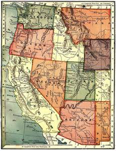 Map Western United States by United States Digital Map Library About