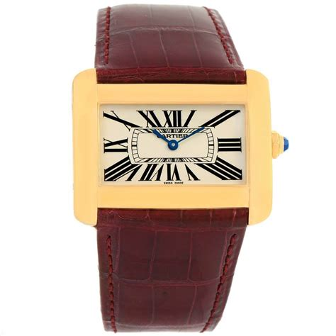 cartier divan cartier tank divan large 18k yellow gold w6300556