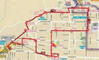Los Angeles Hop On Hop Off Route Map by Hollywood Hop On Hop Off Tour From Anaheim Red Route