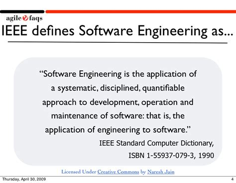 software engineering in the agile world books ieee defines software engineering as