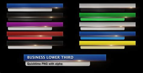 Business Lower Third By Darkroom Videohive Cut Pro Lower Thirds Templates Free
