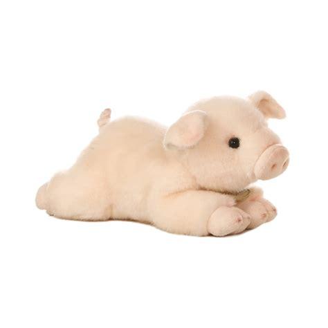 realistic stuffed realistic stuffed pig 8 inch plush animal by