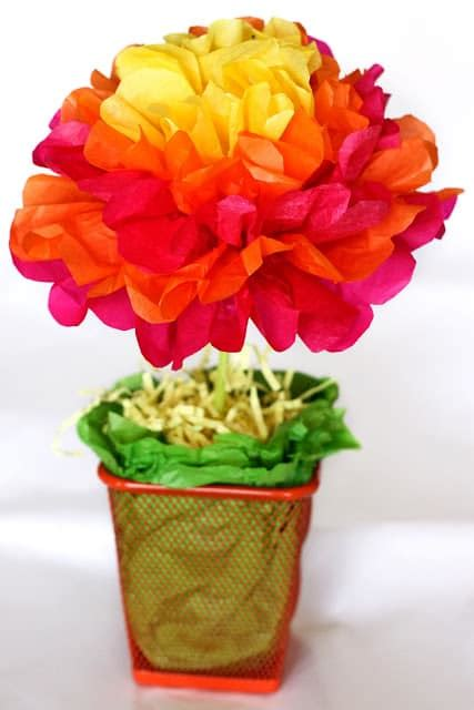potted paper flower ideas hello wonderful 10 gorgeous tissue paper projects