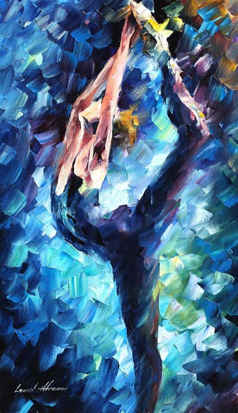blue paintings leonid afremov on canvas palette knife buy original paintings