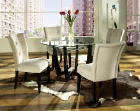 Round Table Dining Room Sets Steve Silver Matinee 5 Piece 48 Inch Round Dining Room Set